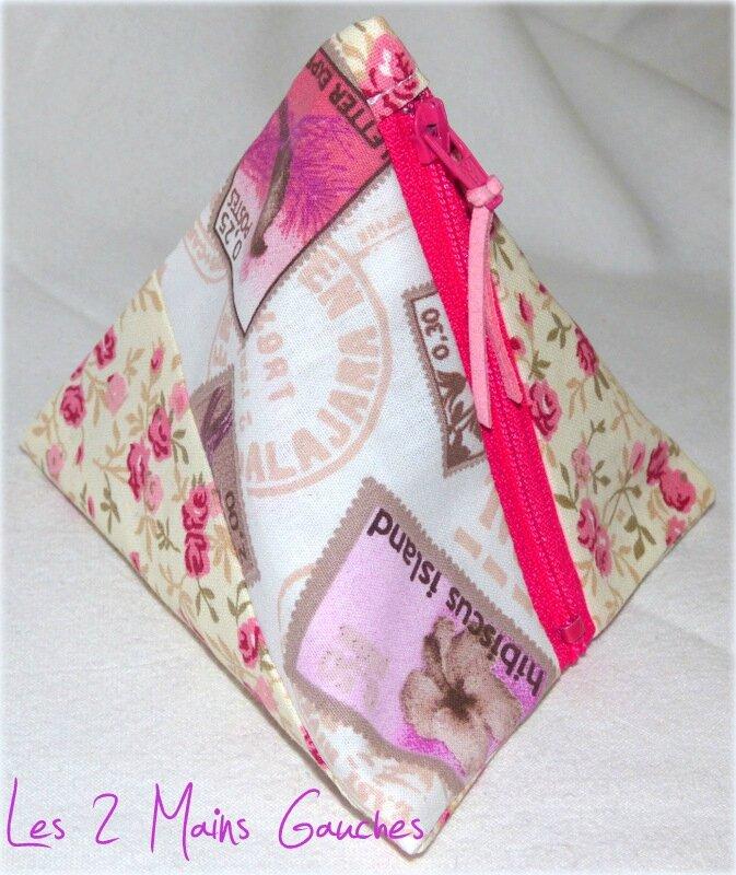 berlingot féminin patchwork rose