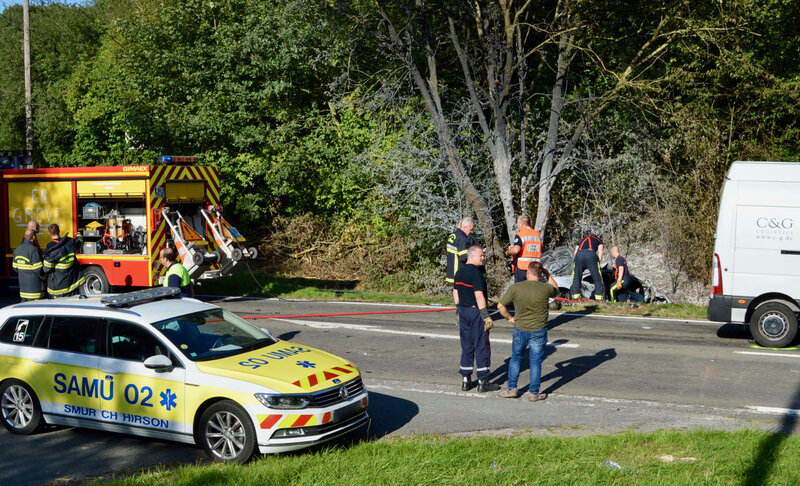 DOUBLE ACCIDENT MORTEL RD 3050 2019 sapeurs-pompiers