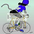 Bibiche fait du vélo