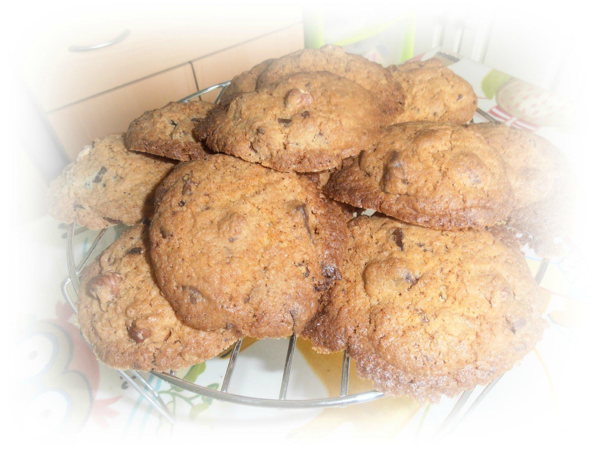 Cookies aux noisettes et au chocolat ...
