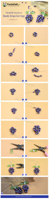 Beads Grape Earrings