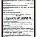 Madame halina toczydlowska