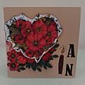 Une jolie carte pour un anniversaire, 1 an de mariage...