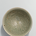 A Yaozhou moulded 'chrysanthemum' bowl, Northern Song dynasty (960-1127)
