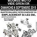 mcp the freedom organise sa bourse moto & vide grenier le 6 septembre 2015 a rieux minervois