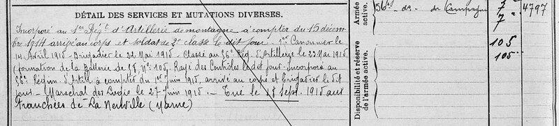 Henri Nové-Josserand, fiche matricule (2)