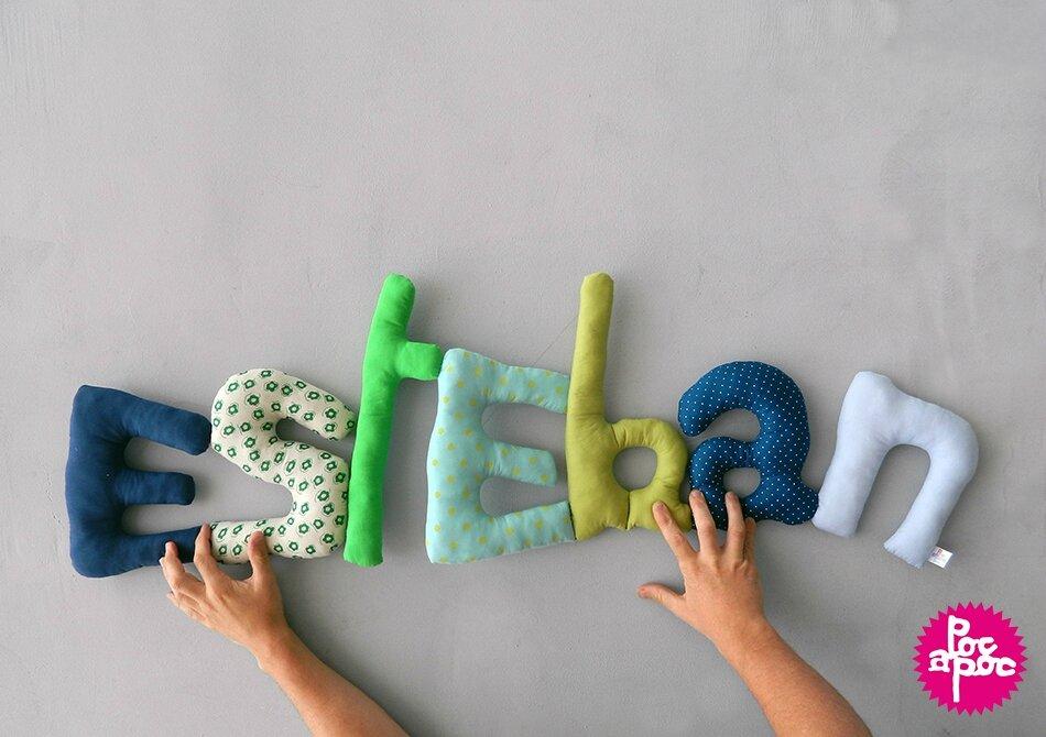 esteban,mot en tissu,mot decoratif,cadeau de naissance,decoration chambre d'enfant,cadeau personnalise,cadeau original,poc a poc 2 blog