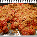 Tomates cerise rôties en crumble