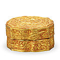 A gold open-carved 'chilong' box and cover, song dynasty, 960-1279