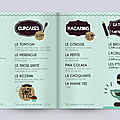 Cupcake moustache - menu :)