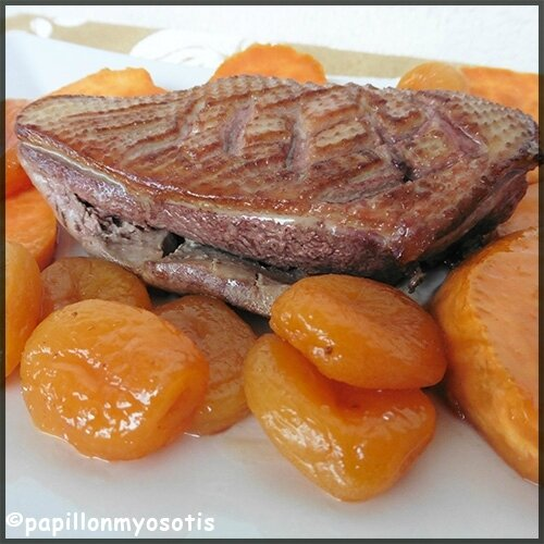 Filet de canard aux patates douces et miel