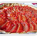 Tarte à la tomate et au poivron rouge