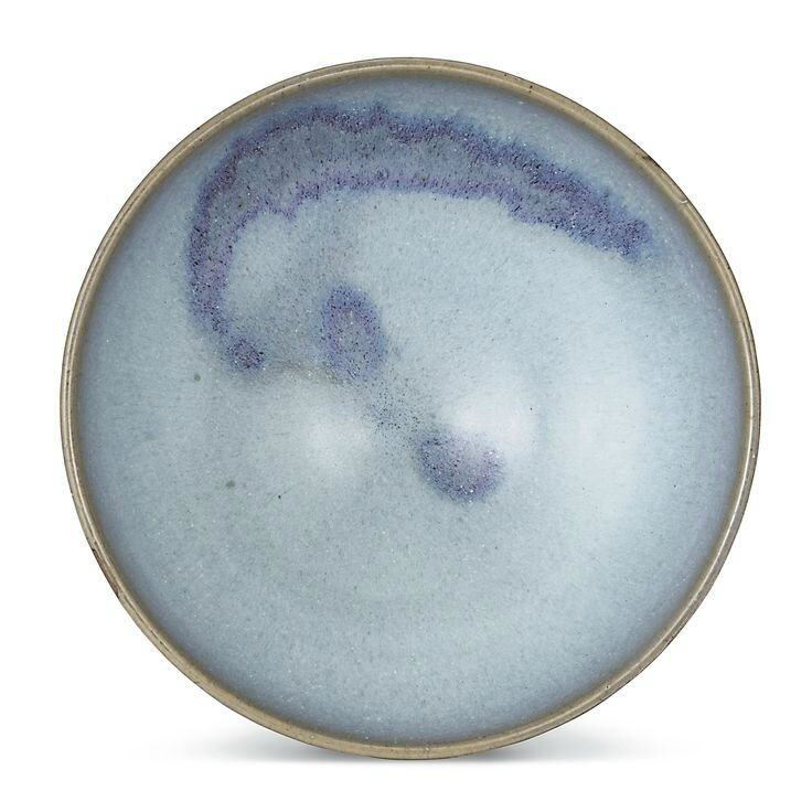 A large 'Jun' purple splashed bowl, Song to Ming dynasty