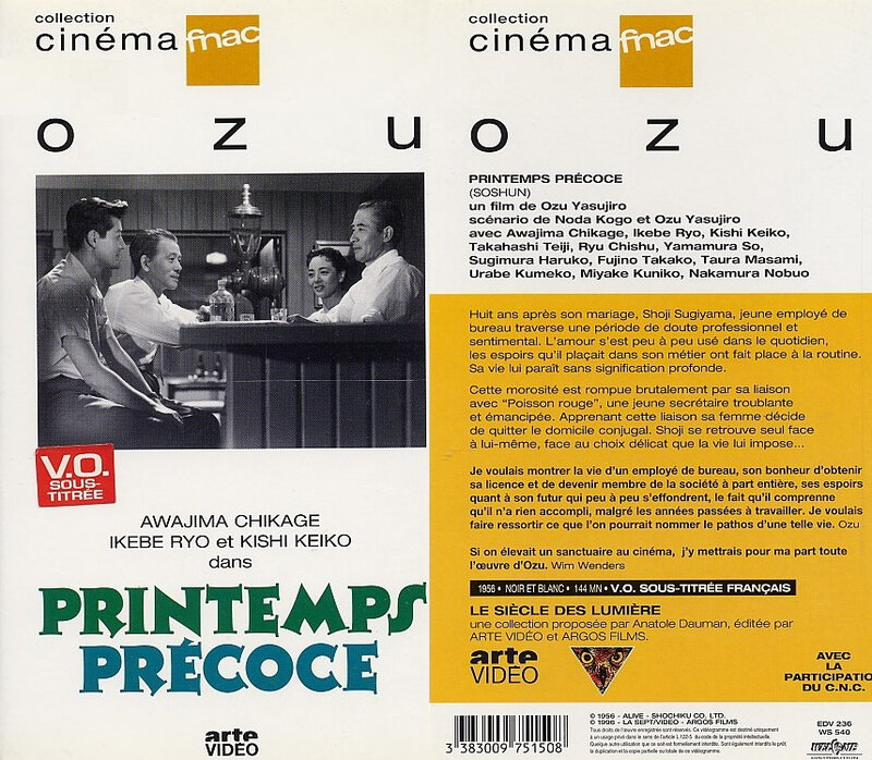 CanalBlog Cinema Ozu K712 Printemps Precoce