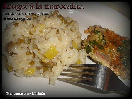 Mirinda - Risotto à la marocaine, olives vertes et courgettes
