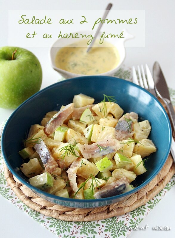 salade aux deux pommes et au hareng fumé - potatoe and apple salad with smoked herring