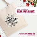 Un tote bag de noël en cadeau ! mise à jour 23/11/2020
