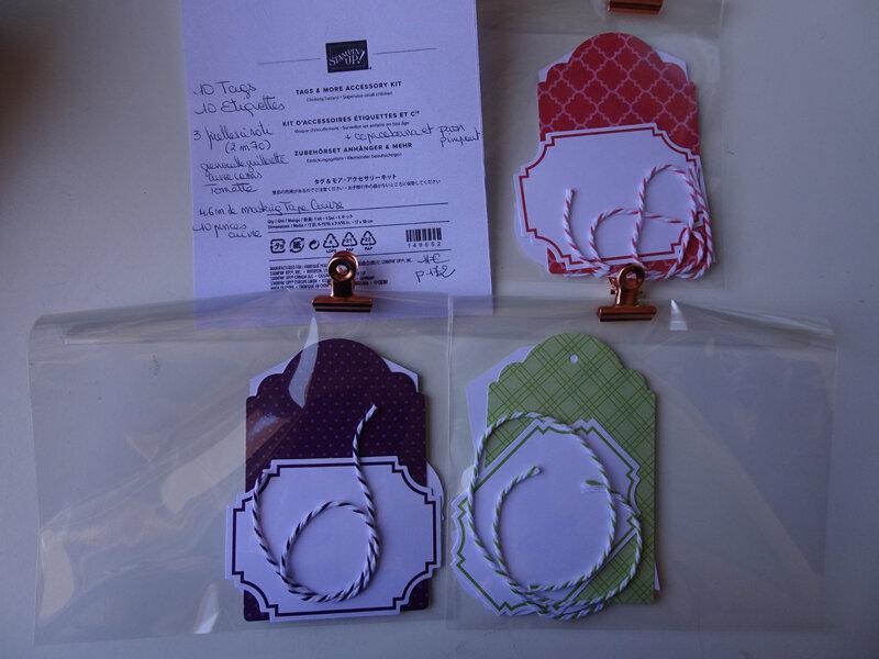 28f Swaps Pochette d'Etiquettes à cadeau