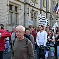 La manifestation devant la Préfecture du Finistère