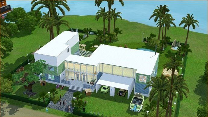 Populaire Beautiful Maison De Luxe Moderne Sims 3 Contemporary - Awesome  TA59