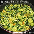 Courgettes et surimi au curry