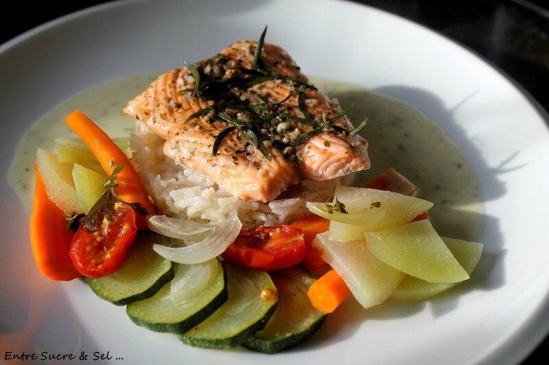 Saumon à l'estragon (Cuisson vapeur au Cook'in)