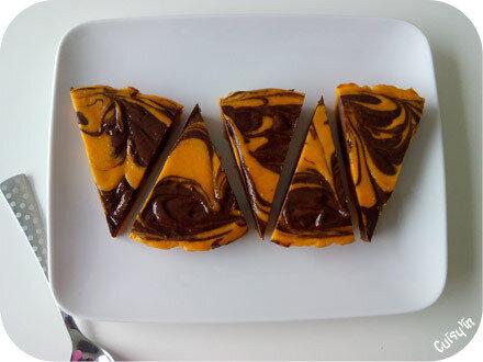 Fondant au potimarron marbré au chocolat