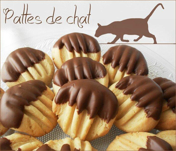 Biscuits sablés pattes de chat 1