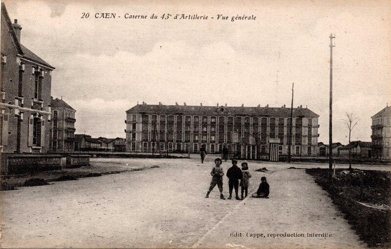 Caen caserne du 43e d'artillerie vue générale Cappe Edit