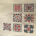 Sal petits carrés brodés (6+7)