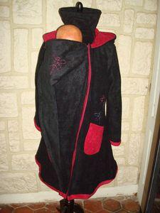 manteau de portage noire et fushia libellules (10)