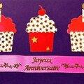 Cadeau : carte d'anniversaire cupcake
