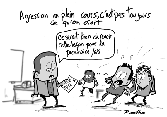 Agression cole prof l ve s curit et le on - Dessin de prof ...