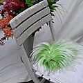 Green Hair an a White Chair