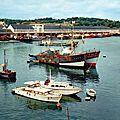 Concarneau (Finistère), le port et la criée