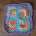 Crochet: granny excentré