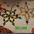 Etoile mini vert nacre or grain blog