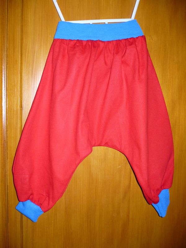 Sarouel toile coton rouge