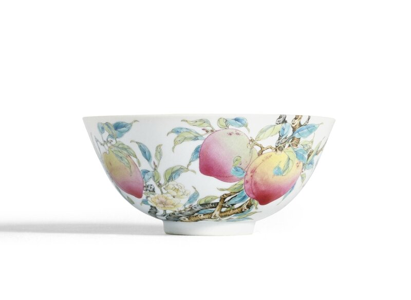 An Exquisite and Very Rare Famille-Rose 'Peach' Bowl