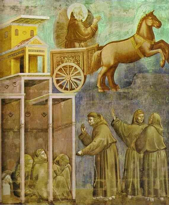 Saint François a la vision du chariot de feu