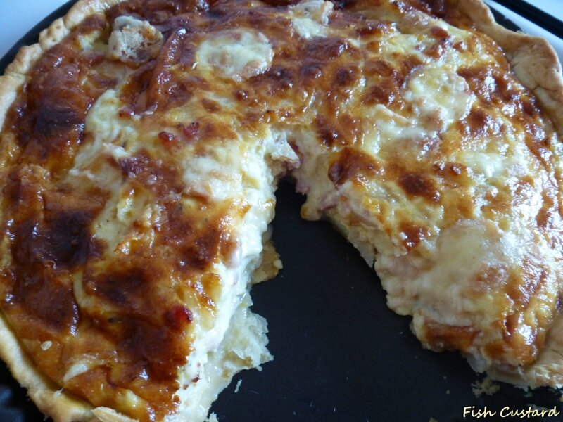 Quiche au Munster, fromage blanc et lardons (7)