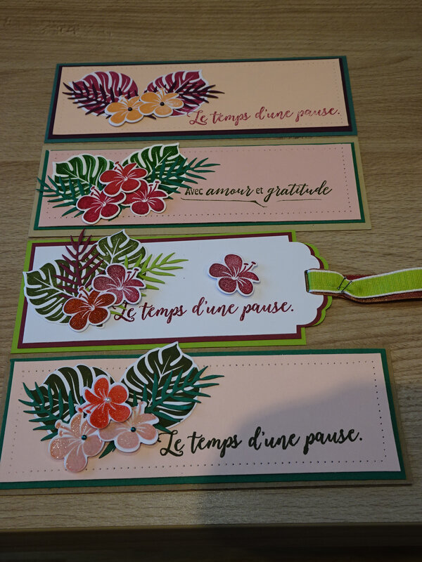 24b Marque Page Chic tropical