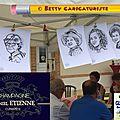 Caricaturiste 1900 à la guinguette bord de marne des champagnes daniel etienne à 51 cumières, 05 juillet 2015