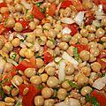 La salade de pois-chiches