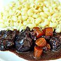 Bœuf bourguignon (cuisson au four)