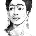 #62 : portrait de femme (Frida Kahlo) - Maryvonne