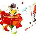 Poster Panoramique : les fleurs