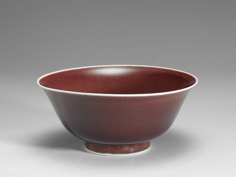 Bowl in ruby red glaze, Xuande reign (1426-1435), Ming Dynasty