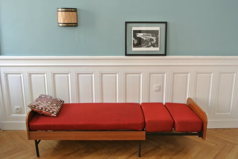 Daybed années 60 rouge (3)