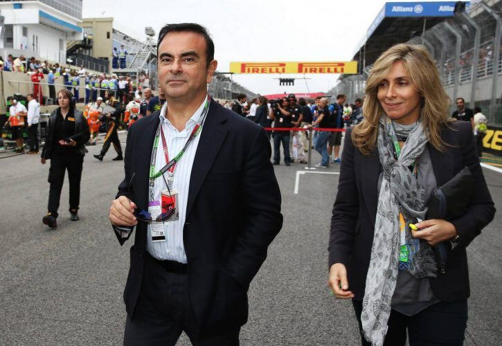 CARLOS GHOSN AND HIS WIFE